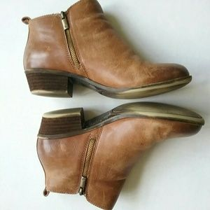 Lucky Brand Shoes - Lucky Brand Basel Tan Leather Ankle Booties